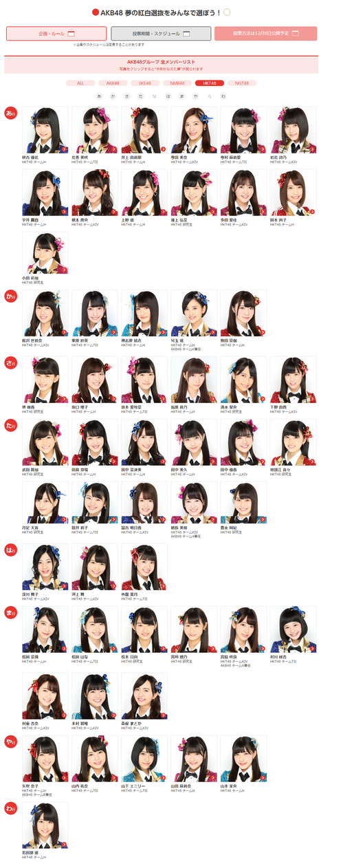 AKB48 夢の紅白選抜をみんなで選ぼう!|第67回NHK紅白歌合戦