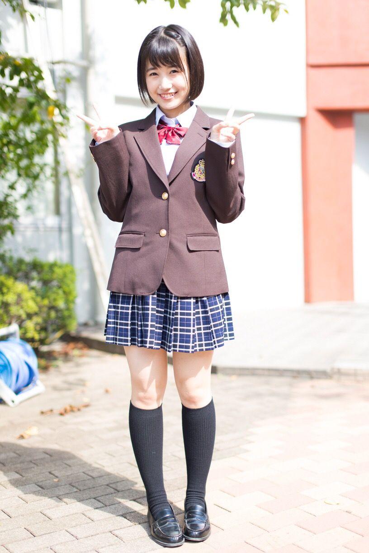 かわいい!制服姿の朝長美桜
