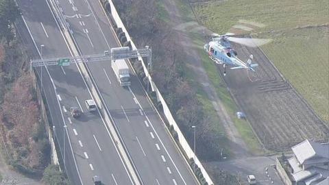 【あおり運転取締り】ヘリコプターとパトカーが連携 三重 東名阪自動車道