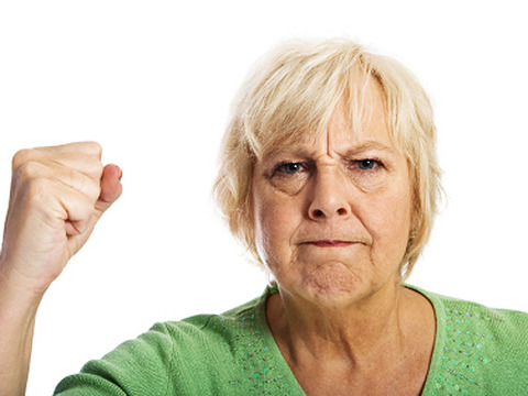 Funny Angry Old Woman_2