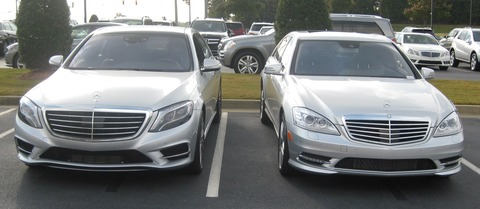 2014-and-2013-S550-Comparison-Front