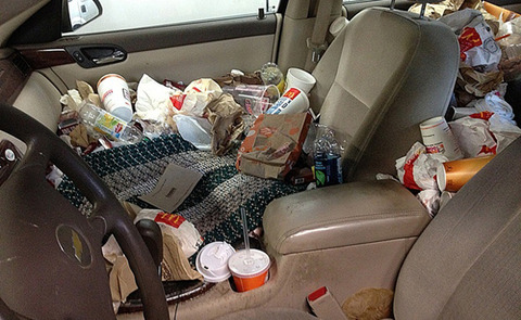 fast-food-messy-car