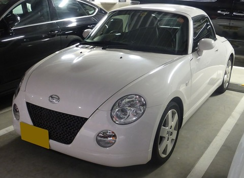 The_frontview_of_Daihatsu_Copen_Activetop_(L880K)