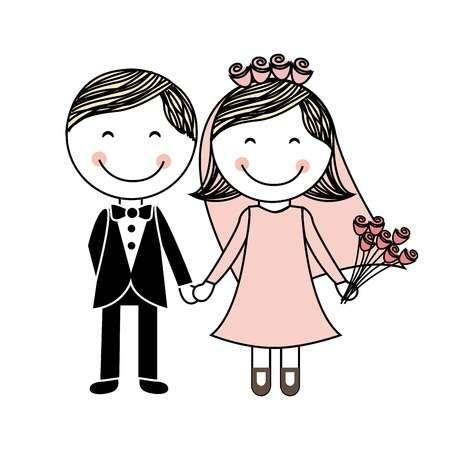21287447-白い背景の上の結婚式のデザイン