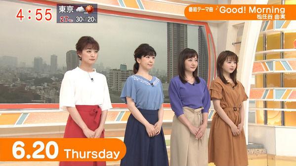 【画像】今日の松尾由美子さんと新井恵理那さん 6.20