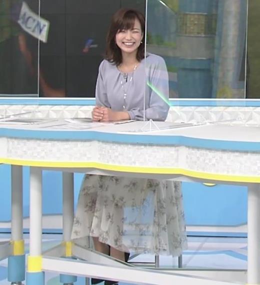 斎藤真美アナ ちょい透けスカート