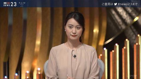 小川彩佳 NEWS23 19/09/12