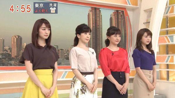 【画像】今日の松尾由美子さんと新井恵理那さん 6.13