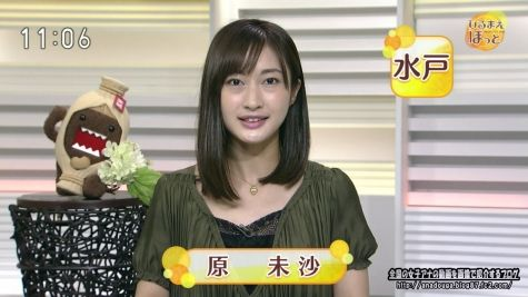 NHK水戸放送局 原未沙 「ひるまえほっと」160614 ロボット体験で谷間