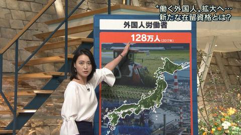 小川彩佳アナ、インナー下のブラまで透けてしまう。