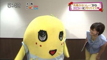 女子アナ塚本麻里衣の貴重な胸チラキャプ