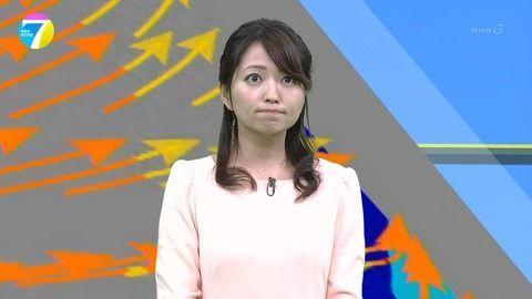 NHKお天気キャスター福岡良子さん、最近のおっぱい。