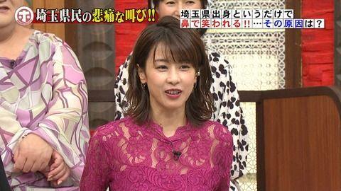 加藤綾子アナがスケスケでエロめ。