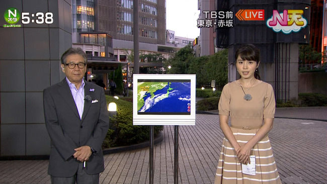 TBS皆川玲奈アナが乳強調wwww
