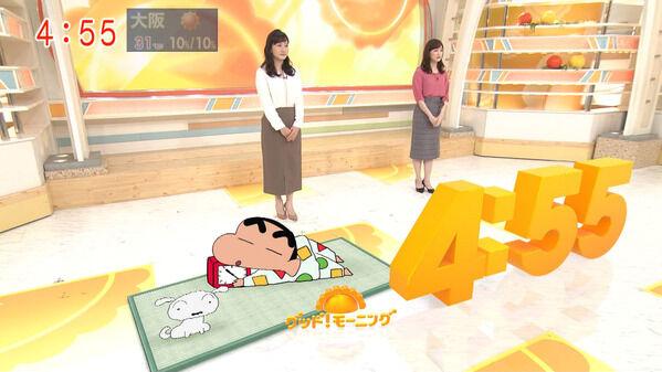 【画像】今日の新井恵理那さんと島本真衣さん 6.4