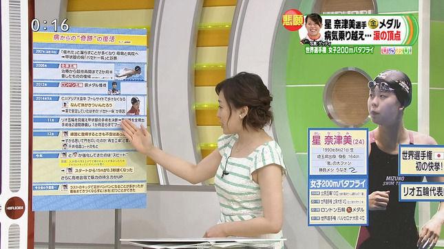 江藤愛アナのムチムチの脇と横乳【ムチムチ実感GIF動画あり】