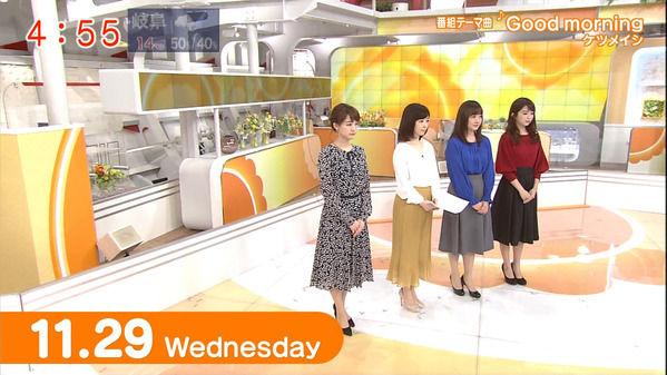 【画像】今日の松尾由美子さんと福田成美さんと島本真衣さんと新井恵理那さん 11.29