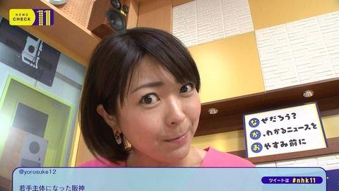 NHK大成安代アナのパン透けしてる白パンツムチ尻とロケット横乳。