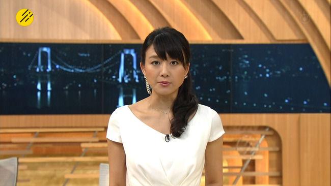 大島由香里アナの巨乳にシートベルトがガッツリ食い込んでいたwwwww