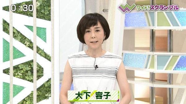【画像】今日の大下容子さん 7.10