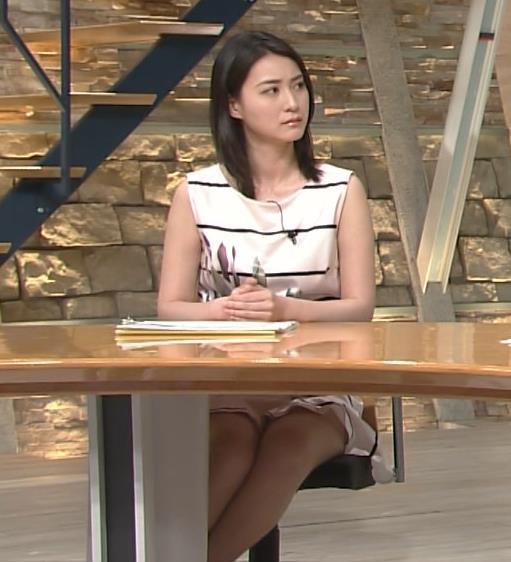 小川彩佳アナ いつもより太もも見えてた