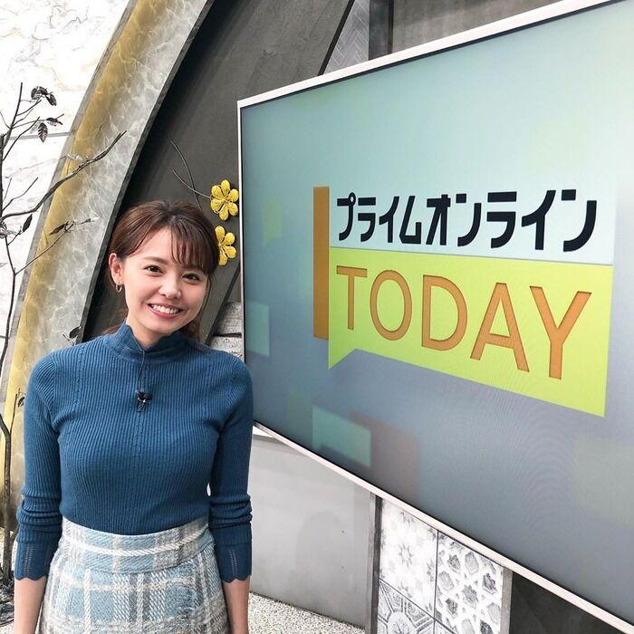 【画像】フジテレビの宮澤智アナがおっぱい強調