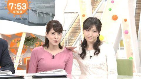 永島優美アナの胸元がパッツパツになってる。