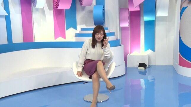 水卜麻美アナ 回転椅子でスカートの中チラ見え!!【GIF動画あり】