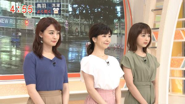 【画像】今日の松尾由美子さんと新井恵理那さん 9.16