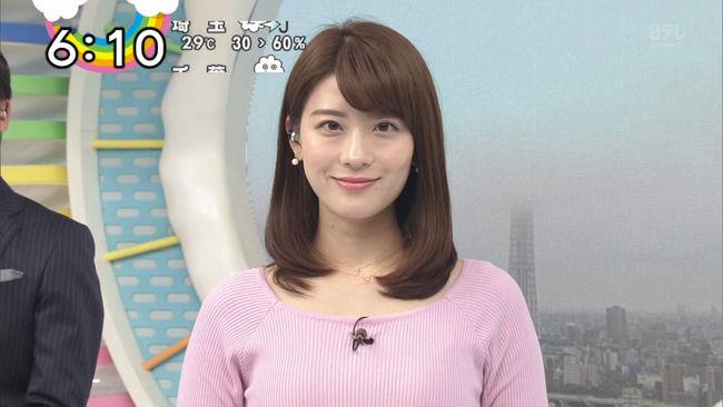 【画像】ZIP!郡司恭子アナの乳、丁度いいwwww