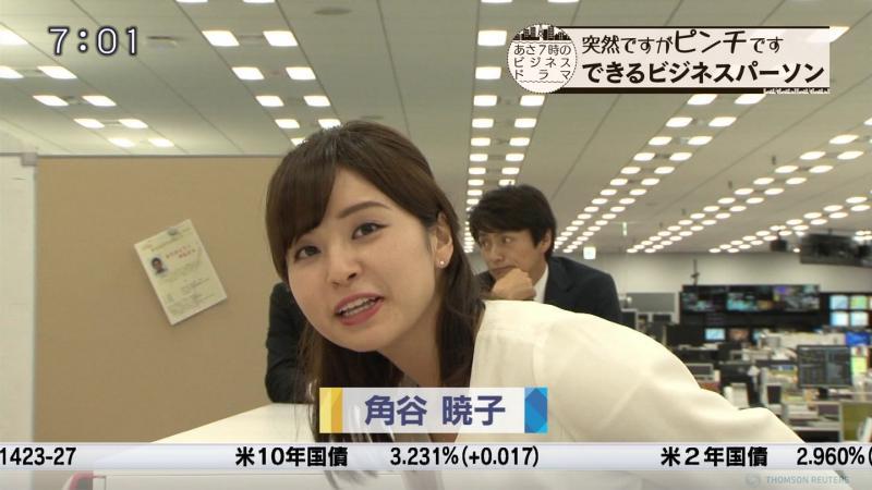 角谷暁子さんのエロおっぱい モーサテ 181109