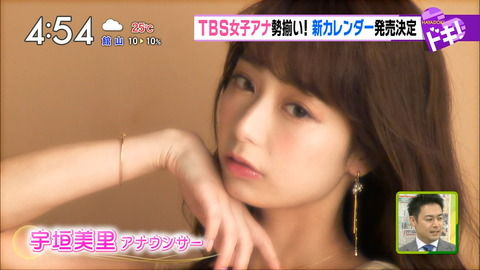 宇垣美里アナ、カレンダー撮影で他の女子アナを圧倒。