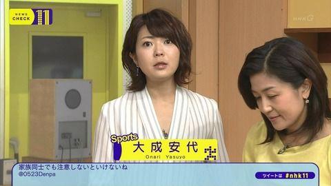 NHK大成安代アナのお尻は毎日エロい。