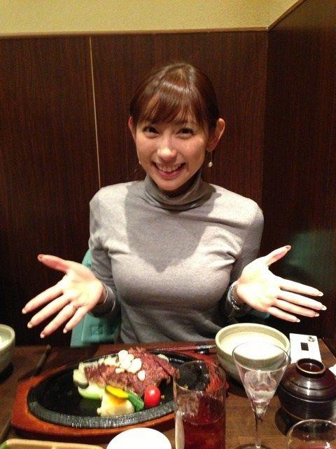 【画像】DeNA荒波の嫁・宮崎瑠依アナがおっぱいデカくてエロすぎる!