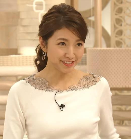 三田友梨佳アナ 新婚さんのピチピチな服