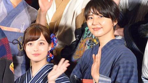 橋本環奈・長澤まさみ・夏菜の浴衣美女3ショット。
