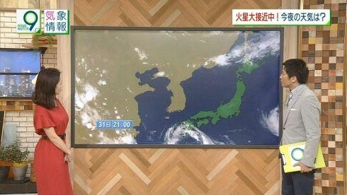 桑子真帆 ニュースウオッチ9 おっぱい横乳