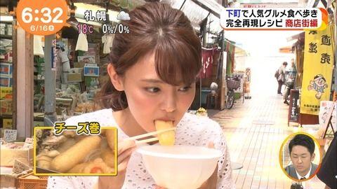 宮澤智アナがパックリ咥える顔。