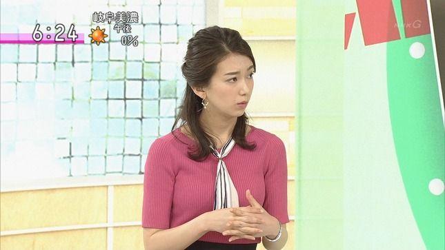 和久田麻由子アナ ニット乳!