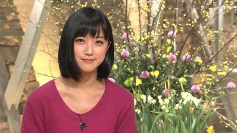 竹内由恵アナ、ニットで控えめに強調したおっぱい。