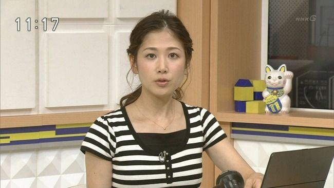 NHK桑子真帆アナがおっぱい強調!Cカップ以上ありそうwwww