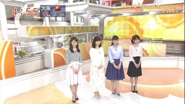 【画像】今日の松尾由美子さんと福田成美さんと島本真衣さんと新井恵理那さん 3.27