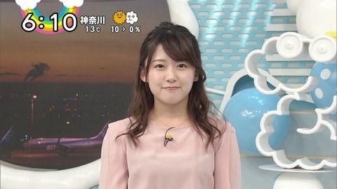 日テレ尾崎里紗アナのセクシーな黒インナー透け。