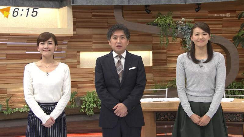 【メ~テレ】鈴木しおり    おっぱいのふくらみ方エロいな 170126