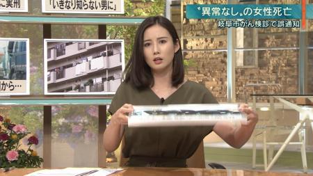 森川夕貴 エロいおっぱい 報ステ 190718