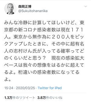【これは天才】早稲田大学教授のコロナ感染者蔓延に関する推定がコチラwwww