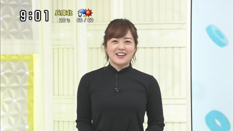 水卜麻美さんのエロいニット爆乳 スッキリ 181110