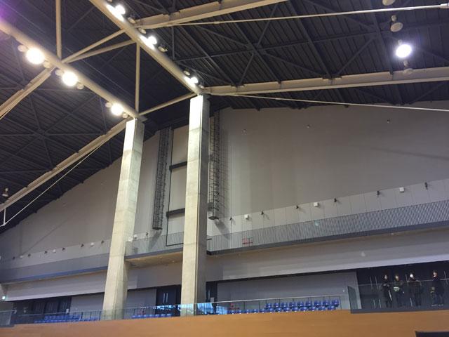 建て替えられた松江市総合体育館・メインアリーナ内部2
