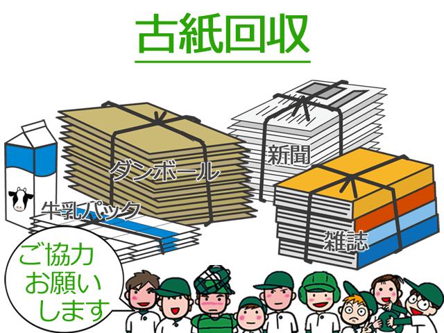 古紙回収の品目・ダンボール・新聞・雑誌・牛乳パック