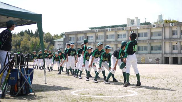 試合開始前のメンバー整列